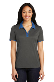 Sport-Tek Ladies Heather Contender Contrast Polo. LST667