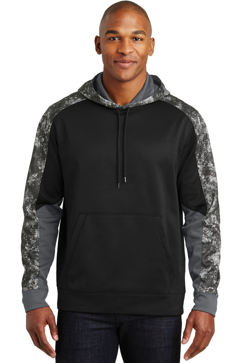 Sport-Tek Sport-Wick Mineral Freeze Fleece Colorblock Hooded Pullover. ST231