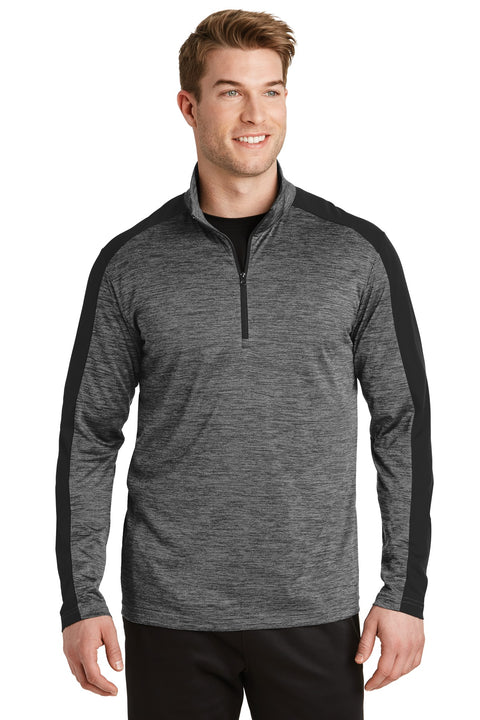 Sport-Tek PosiCharge Electric Heather Colorblock 1/4-Zip Pullover. ST397