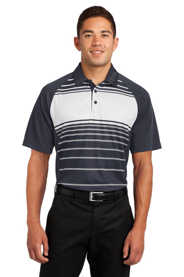 Sport-Tek Dry Zone Sublimated Stripe Polo. ST600