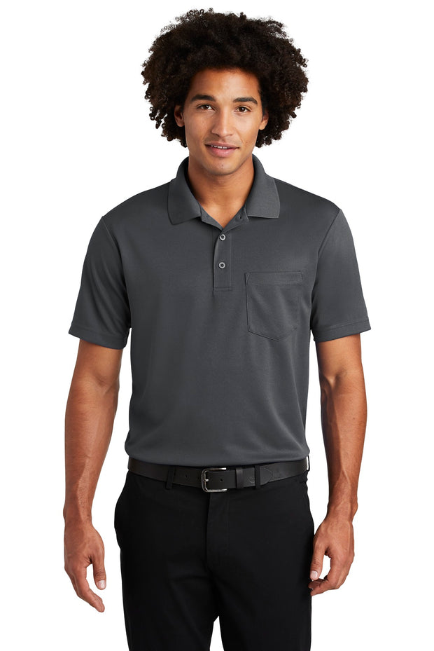 Sport-Tek  PosiCharge  RacerMesh  Pocket Polo. ST640P