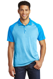 Sport-Tek  PosiCharge  RacerMesh  Raglan Heather Block Polo. ST641