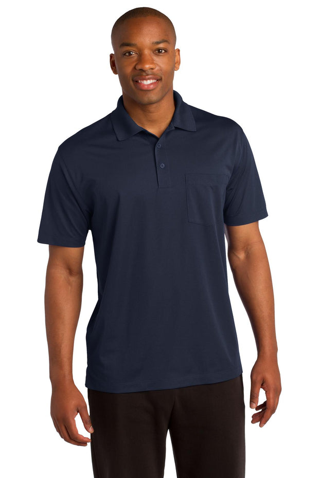 Sport-Tek Micropique Sport-Wick Pocket Polo. ST651
