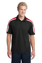 Sport-Tek Tricolor Shoulder Micropique Sport-Wick Polo. ST658