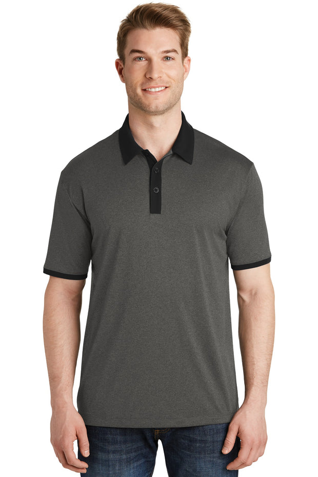 Sport-Tek Heather Contender Contrast Polo. ST667