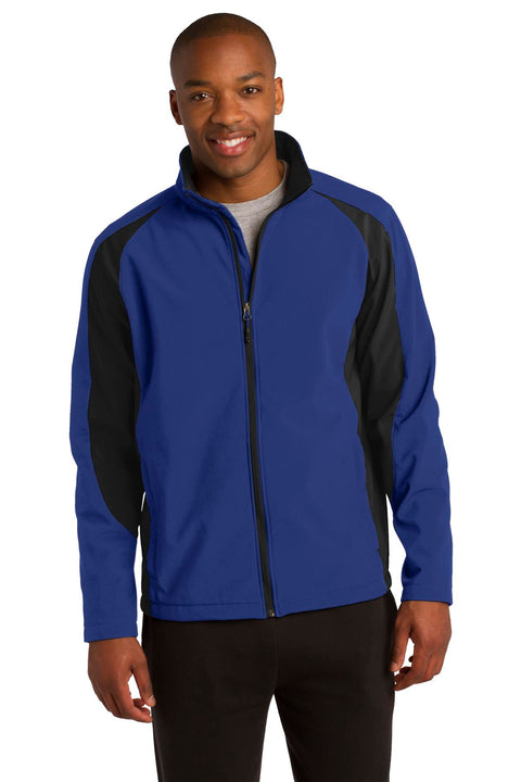 Sport-Tek Colorblock Soft Shell Jacket. ST970
