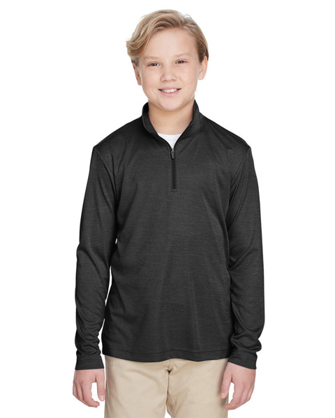 Youth Zone Sonic Heather Performance Quarter-Zip. TT31HY