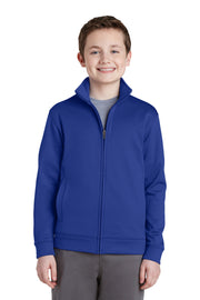Sport-Tek Youth Sport-Wick Fleece Full-Zip Jacket.  YST241