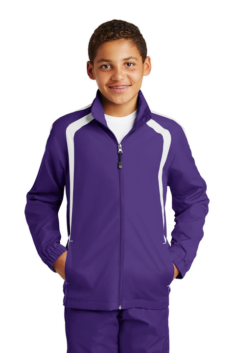 Sport-Tek Youth Colorblock Raglan Jacket. YST60
