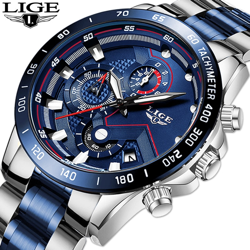 Lige rotello tachymeter mens watch