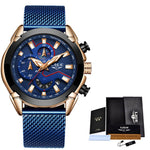 Load image into Gallery viewer, LIGE chronograph hombre men's watch
