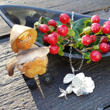 Ogin rosehip and wild rose pendant