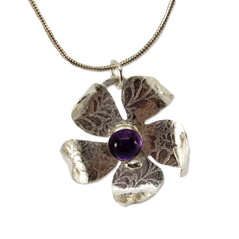 Starburst sterling jasmine flower necklace