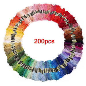 200pcs Mix Colors Cotton Sewing Skeins Cross Stitch Embroidery