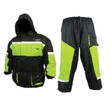 IMPERMEABLE R7 RACING M VERDE R7-003