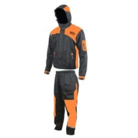IMPERMEABLE R7 RACING L NARANJA R7-004