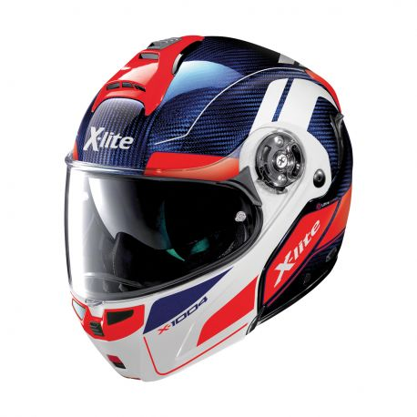 Casco X-1004 Ultra Carbon Charismatic 12 Tinto/Azul M