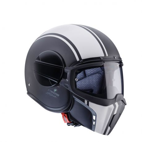 Casco Jet Ghost Legend Ngo Mat/Bco S