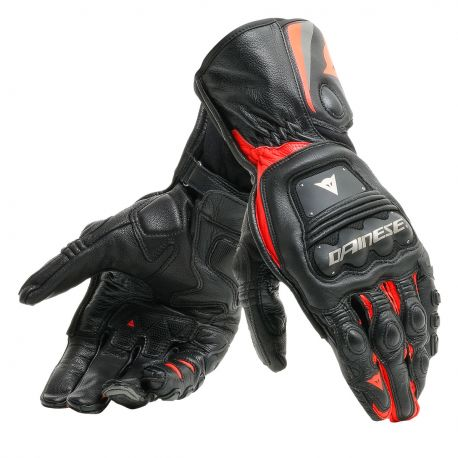 Guantes Steel Pro Externos Ngro/rojo M