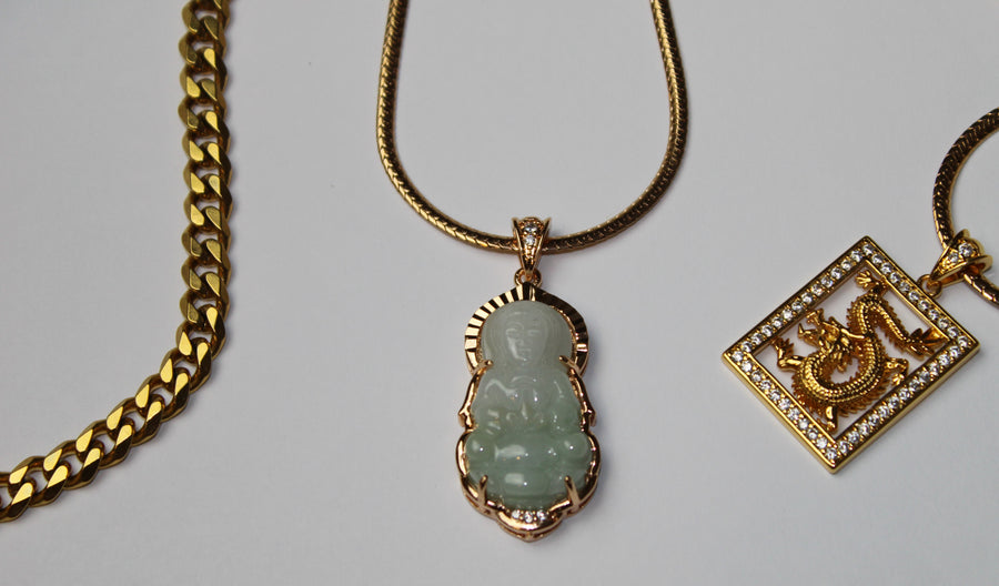 Quan Yin Goddess Jade Necklace