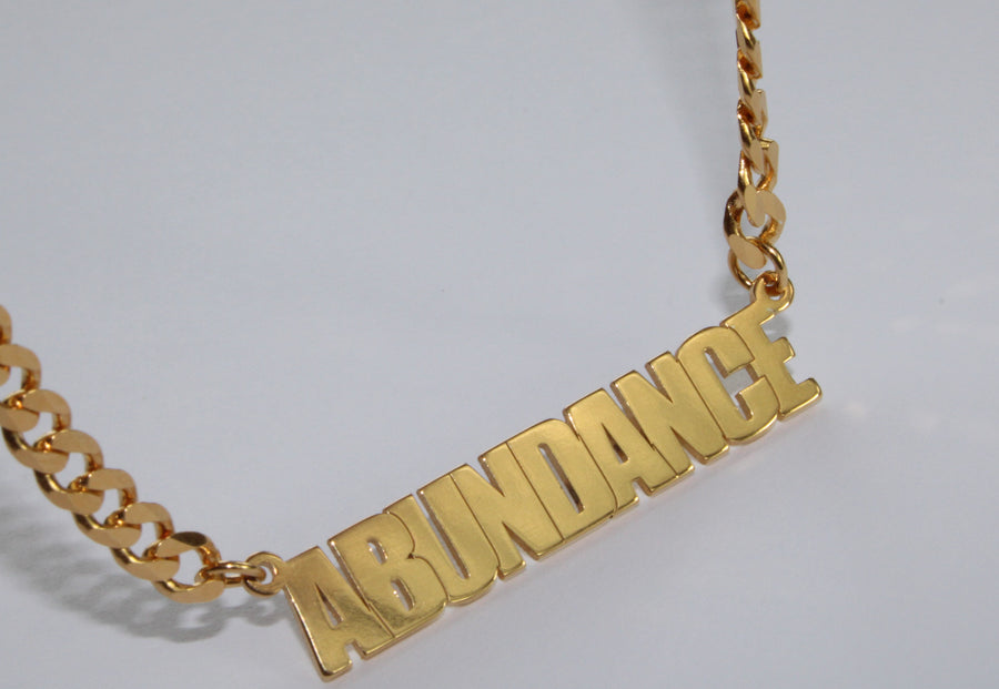 Custom Cuban Link Name Chain