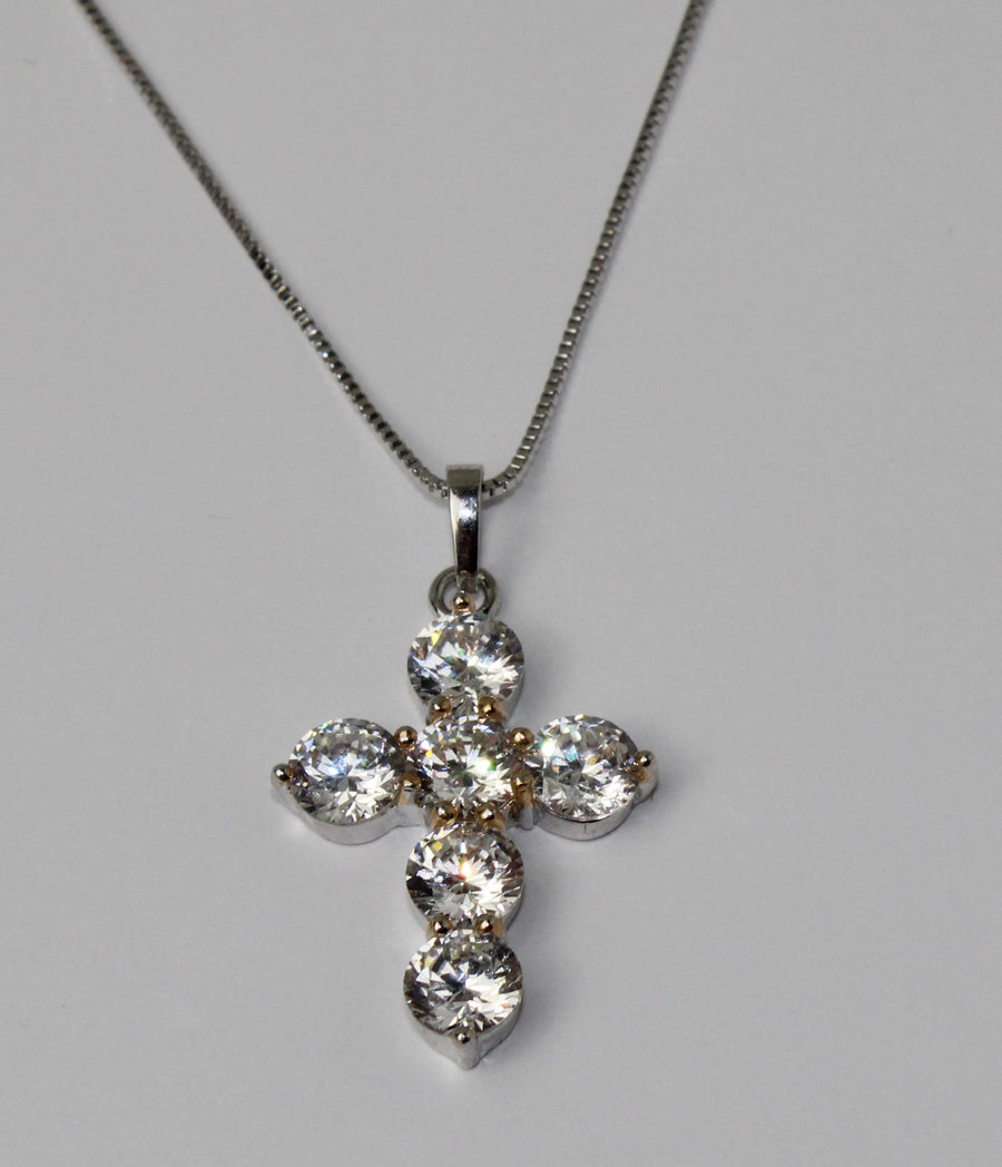 Icy Cross Necklace