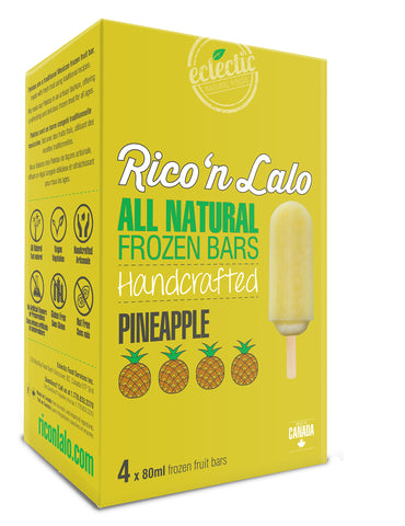 4 Pack Pineapple Frozen Fruit Bars