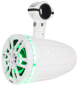 "DS18 HYDRO 8"" 2-WAY MARINE POD TOWER SPEAKERS W COMPRESSION DRIVER & RGB LIGHTS 550 WATTS (PAIR)"