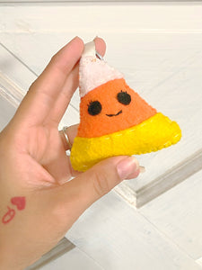Candy Corn Plush Key Chain