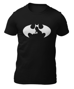 BATMAN - LOGO CARA - BLANCO - CAMISETA -