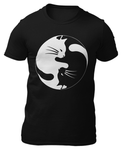 YIN YANG GATOS - CAT - CAMISETA