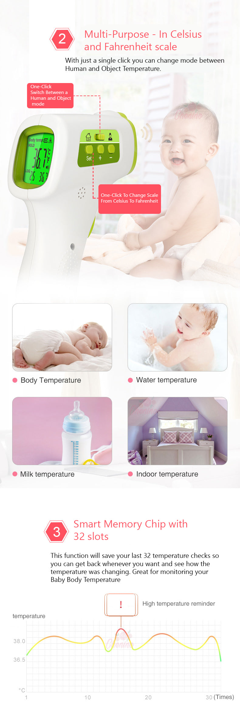 Main Features of our Infrared Body Temperature Thermometer