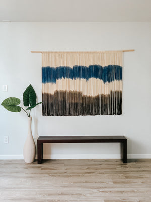 Extra Large Modern Macrame Wall Hanging / Hand Dyed Contemporary Fiber Art / Modern Home Decor / Boho Decor / Modern Wall Art / Wall Decor