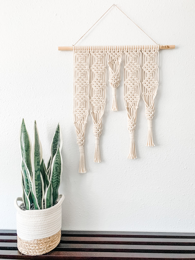 Large Macrame Wall Hanging Plant Hanger / Macrame Wall Decor / Gifts for Her / Multiple Plants Hanger / Boho Decor