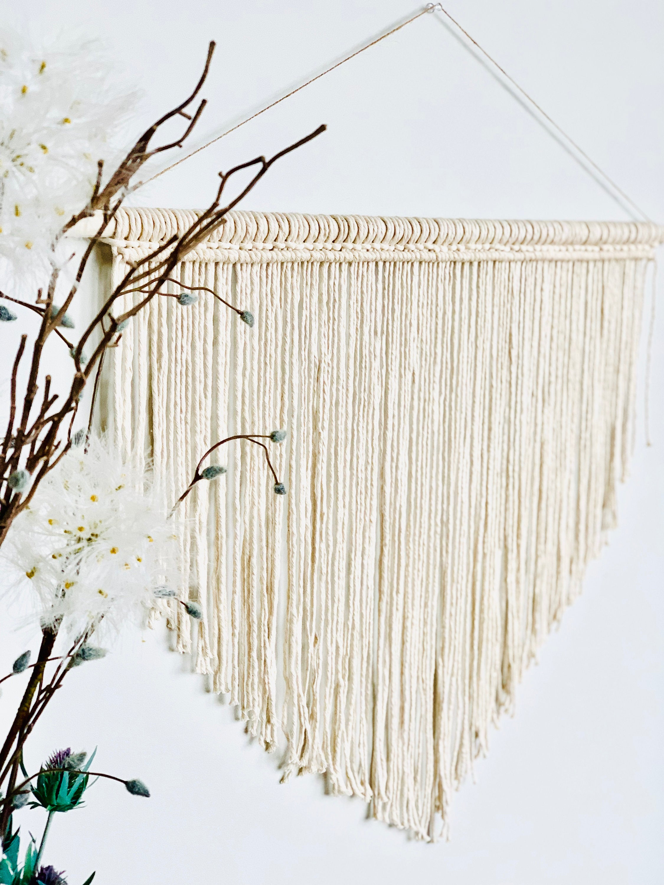 Simple Triangle Large Macrame Wall Hanging , Boho Wall Art , Modern Macrame, Wall Tapestry, Woven Wall Hanging, Bohemian Decor