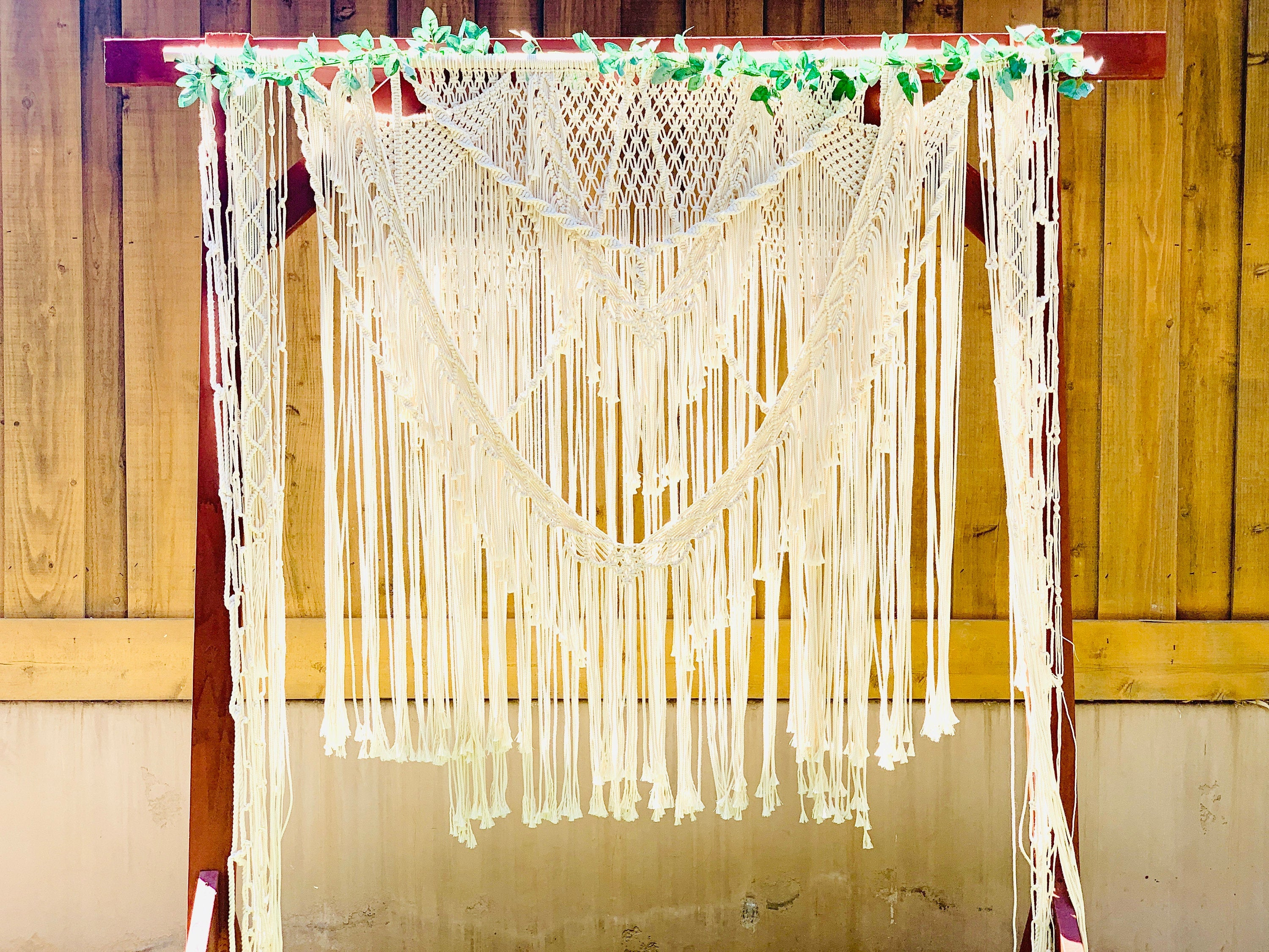 Large Bohemian Macrame Wedding Backdrop / Macrame Wedding Arbor / Macrame Arch / Boho Wedding Backdrop / Bohemian Wedding
