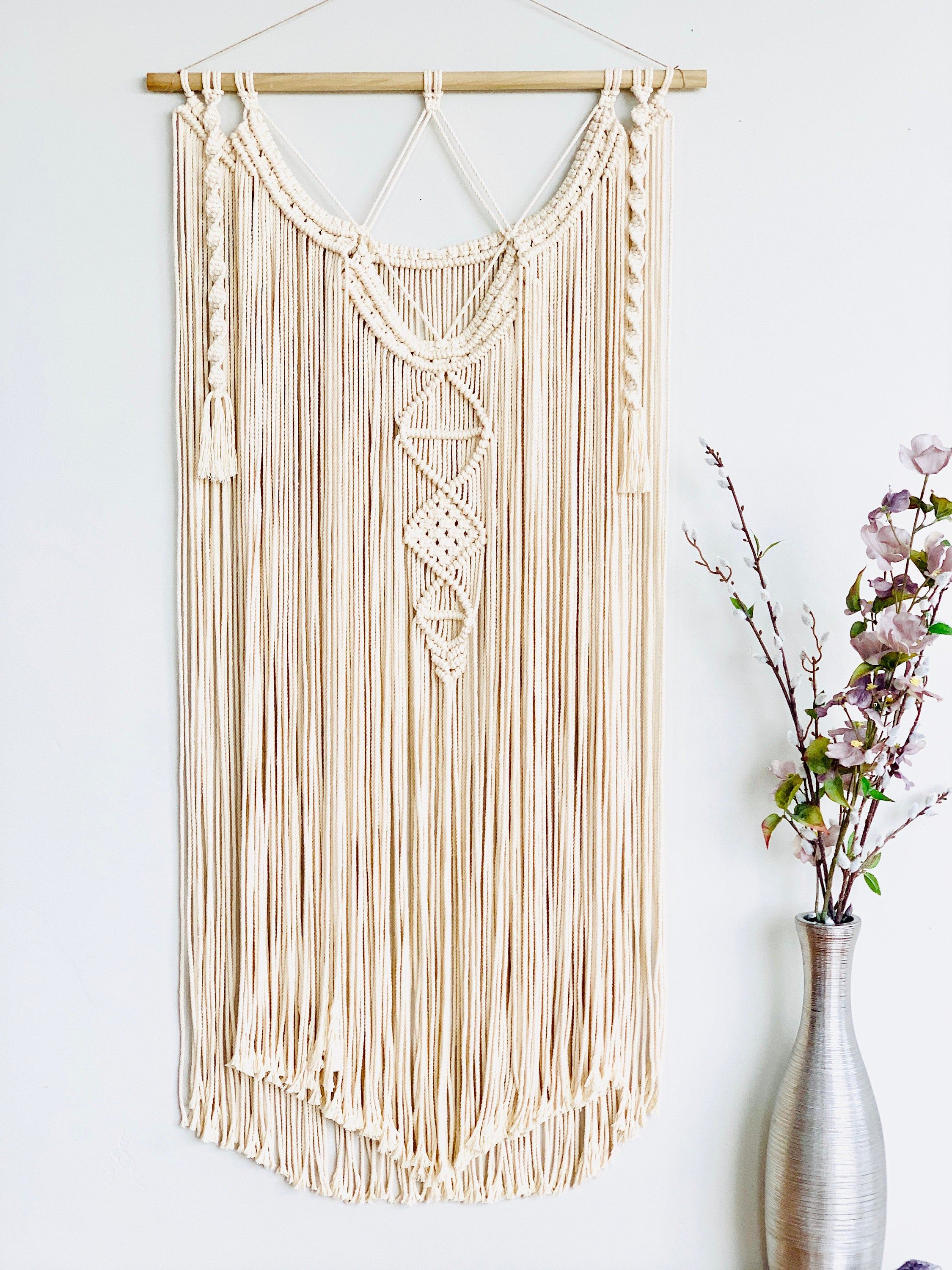 Super Long Boho Macrame Wall Hanging, Extra Large Macrame Wall Hanging, Layered Macrame, Tribal Macrame, Bohemian Macrame Wall Art