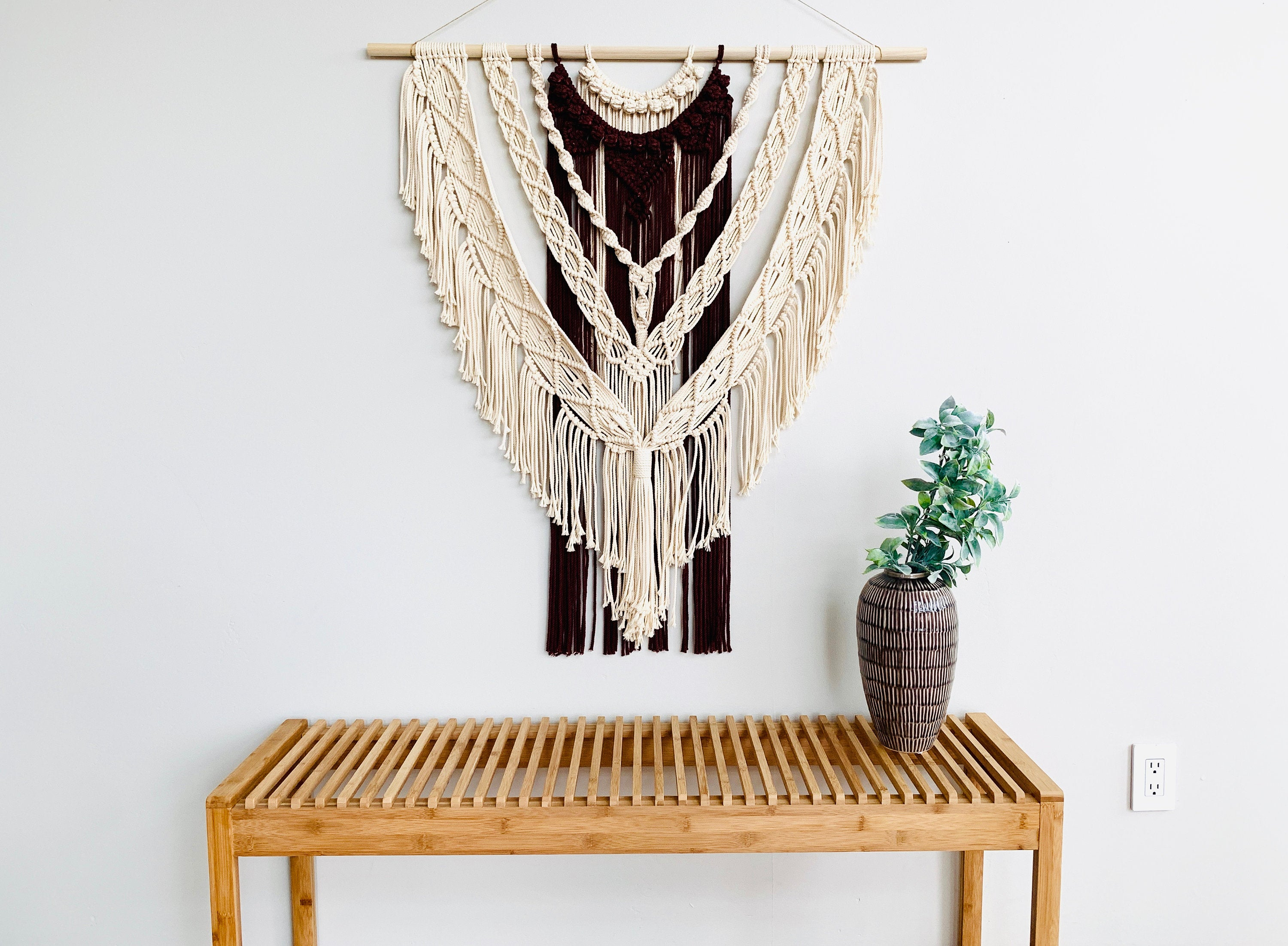 Extra Large Layered Macrame Wall Hanging / Dyed Macrame Wall Decor Fiber Art / Layered Bohemian Macrame / Boho Decor
