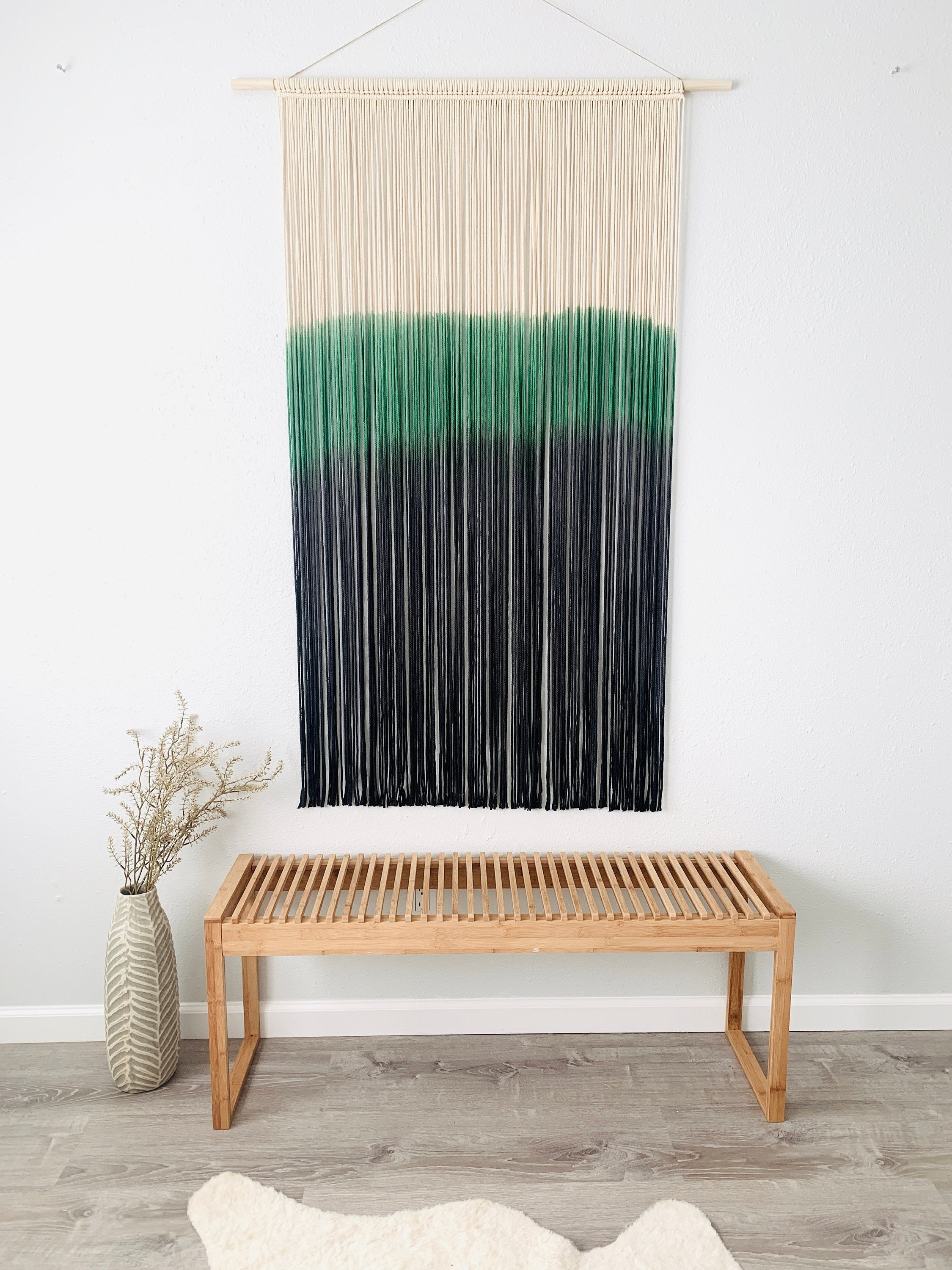 XXL Dyed Macrame Wall Hanging, Woven Tapestry, Large Macrame Wall Hanging, Boho Decor, Fiber Art Wall Decor