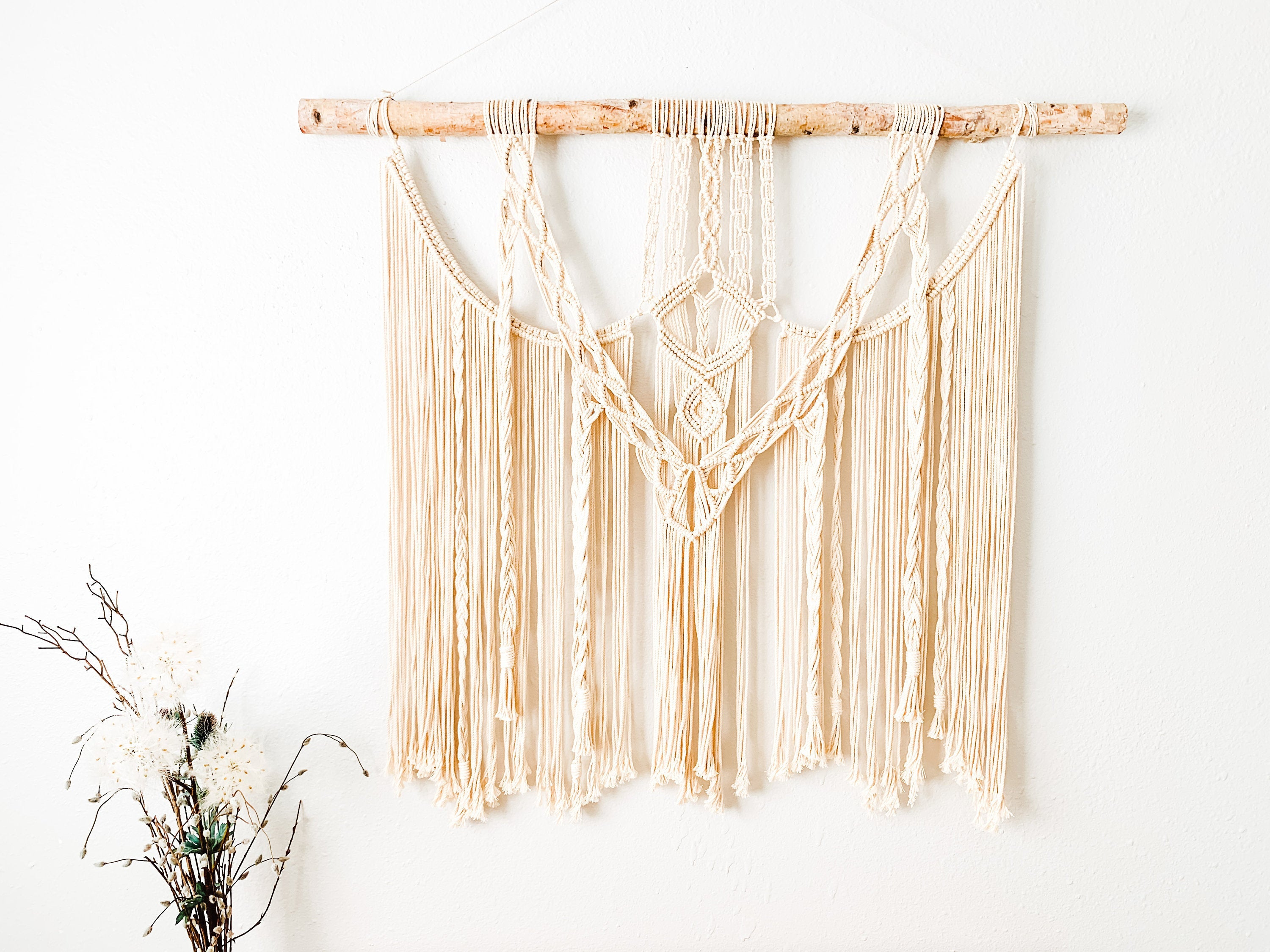Extra Large Driftwood Macrame Wall Hanging, Boho Decor, Fiber Art, Bohemian Macrame Wall Art, Large Simple Macrame, Holiday Gift