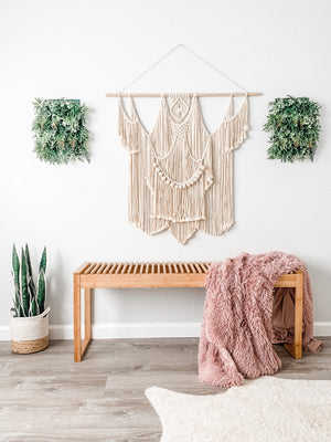 Large Macrame Wall Hanging / Bohemian Macrame Wall Hanging / Boho Decor / Fiber Art / Layered Macrame