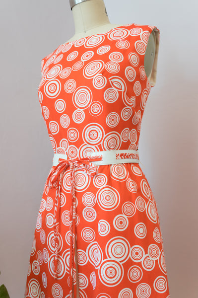 1960's Red Mod Covergirl of Miami Dress