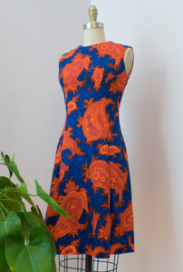 1960's Mod Paisley Dress