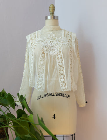 Anitique 1900's Mesh and Lace Blouse