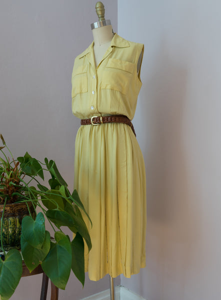 Vintage 1950's Chartreuse Carlye Dress
