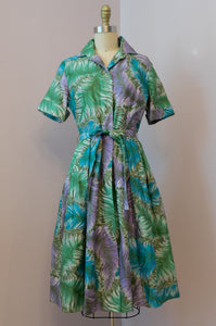 Vintage 1960's Feather Print Dress