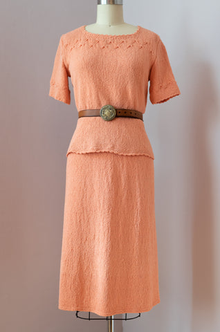 1950's Peachy Keen Knit Set