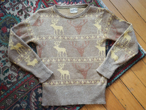 1940's New Yorker Reindeer Knit Sweater