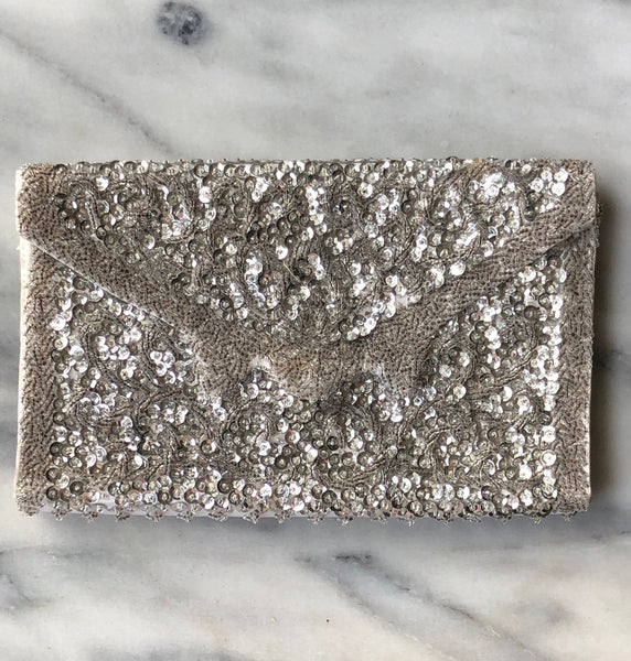 1950's Beaded and Sequined Clutch