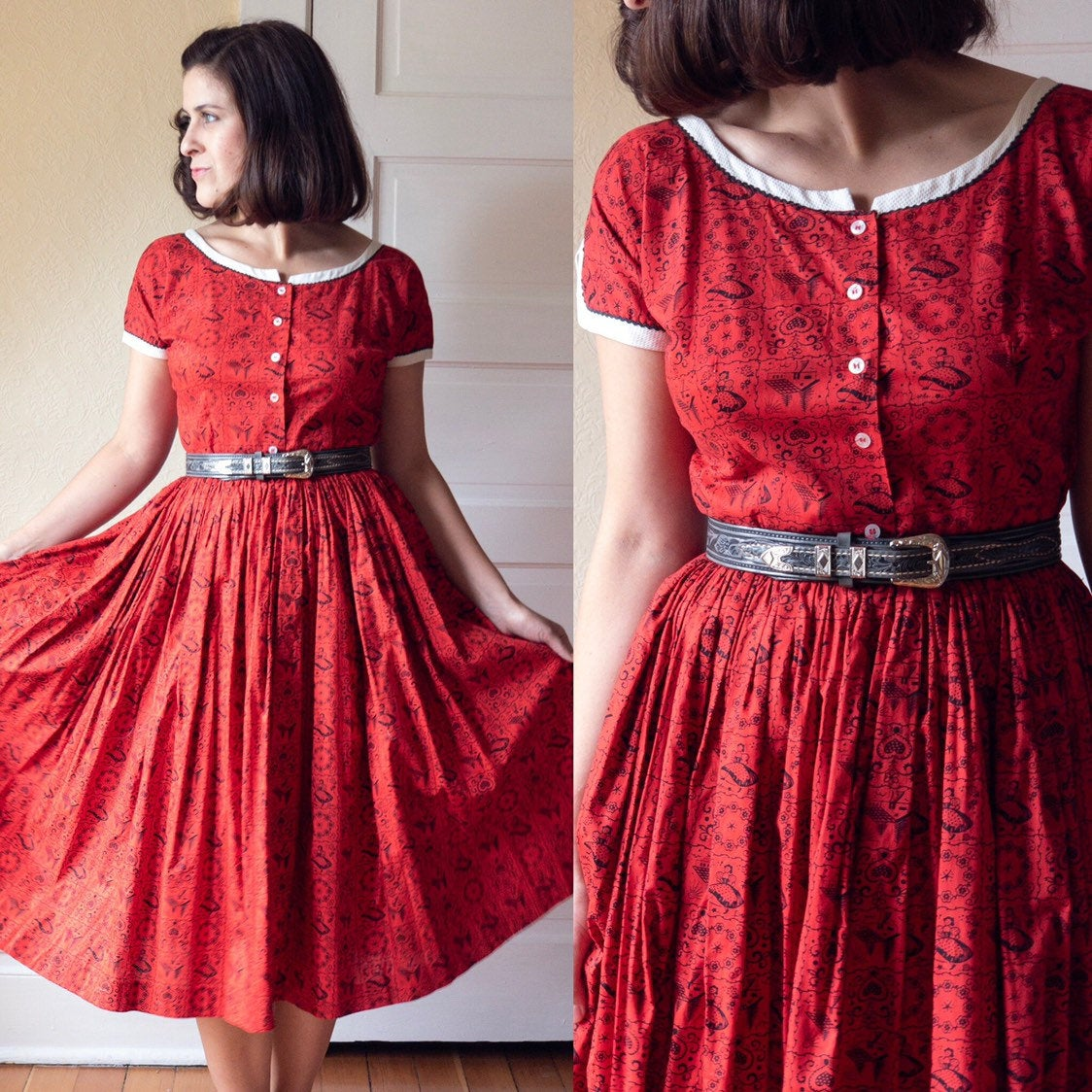 1950's Cottages and Folks Dress